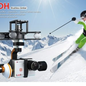 Gimbal Walkera G-3DH para cámara GoPro Hero3, 3+ / 4 Silver y iLook+