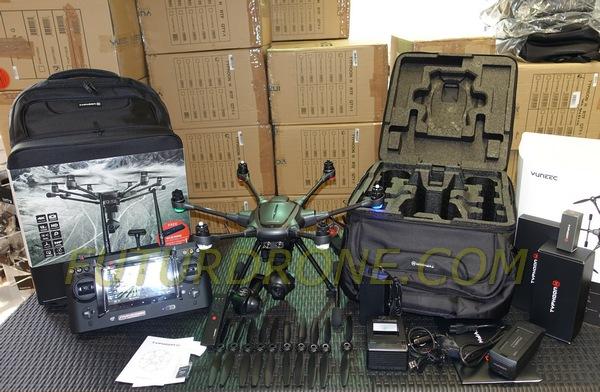 Yuneec Typhoon H Pro, mochila, 2 baterías, mando Wizard